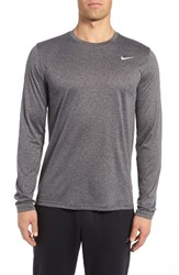 Nike Men's 'Legend 2.0' Long Sleeve Dri Fit Training T Shirt Charcoal Silver