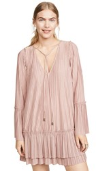 Free People Can't Help It Mini Dress Pink Clay