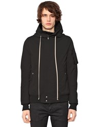 Rick Owens Drkshdw Hooded Zip Light Cotton Jacket Black