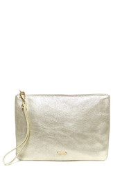 Hayden Harnett 'Maya' Clutch Metallic Platinum Crackle