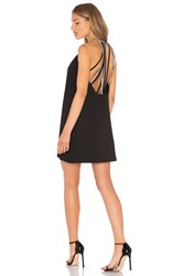 Halston High Neck Dress Black