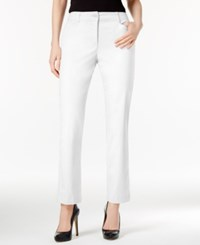 Karen Scott Petite Straight Leg Pants Only At Macy's Bright White