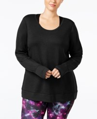 Ideology Plus Size Open Back Top Only At Macy's Noir