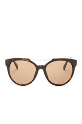 Kenneth Cole Reaction Women's Top Bar Oversized Sunglasses Brown