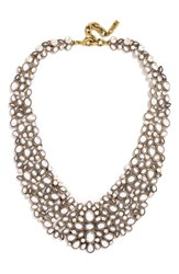 Baublebar 'Kew' Crystal Collar Necklace Pearl Gold