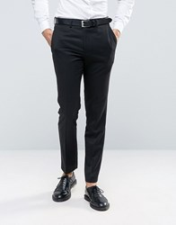French Connection Black Tuxedo Slim Fit Suit Trousers Black