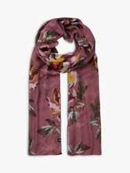 Joules Wensley Sheer Floral Scarf Purple Mix