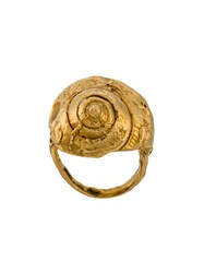 Alighieri Ali Float Q Ring 24Kt Gold Plate