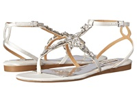 Badgley Mischka Melinda White Satin Women's Dress Sandals