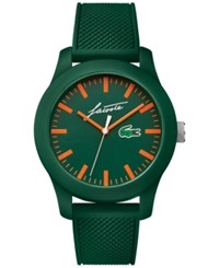 Lacoste Men's 12.12 Green Silicone Strap Watch 43Mm 2010862