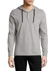 Bench Hooded Long Sleeved Henley Grey