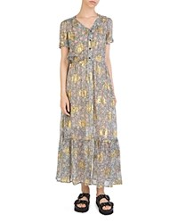 The Kooples Western Flowers Maxi Dress Green