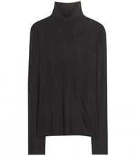 Balenciaga Silk Turtleneck Sweater Black