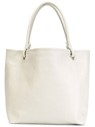 Mm6 Maison Margiela Oversized Shopping Tote Nude And Neutrals