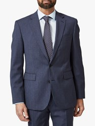 Chester Barrie By Textured Wool Travel Suit Jacket Blue