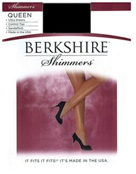 Berkshire Plus Queen Control Top Shimmer Pantyhose 15 Denier Fantasy Black