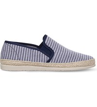 Kg By Kurt Geiger Lara Striped Espadrilles Navy