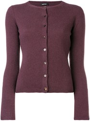 Aspesi Cashmere Cardigan Pink And Purple