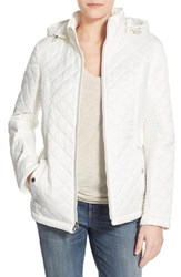 Women's Laundry By Design Quilted Jacket With Detachable Hood Cloud