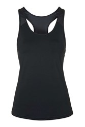 Mesh Panel Racer Vest By Ivy Park Black