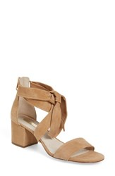 Louise Et Cie Women's Gia Block Heel Sandal True Tan Suede