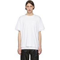 Sacai White Cotton T Shirt