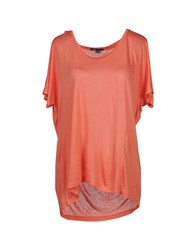 Vince. Topwear Short Sleeve T Shirts Women Salmon Pink