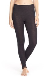 Women's Hanro Wool And Silk Thermal Leggings Black