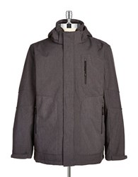 Hawke And Co Water Resistant 3 In 1 Jacket Dark Grey