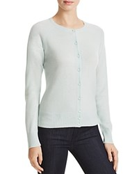 Aqua Cashmere Basic Cardigan Mint