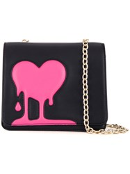 Love Moschino Melted Heart Crossbody Bag Black