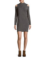 1.State Textured Cold Shoulder Dress Concrete