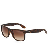 Ray Ban Ray Ban Justin Sunglasses Light Havana And Brown Gradient