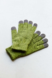 Urban Outfitters Basic Touchscreen Glove Green