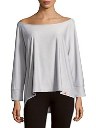 X By Gottex Wide Neck Top Black