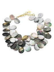 Nest Grey Mother Of Pearl Statement Necklace