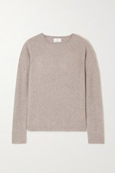 Allude Ribbed Cashmere Sweater Gray
