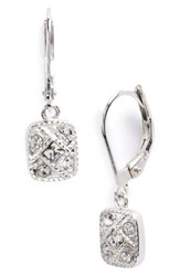 Judith Jack Square Drop Earrings Marcasite