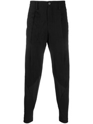 Issey Miyake Slim Fit Tailored Trousers Black