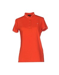 Fred Perry Topwear Polo Shirts Women Rust