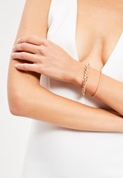 Missguided Gold 2 Pack Simple Chain Bracelets