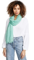 Free People Jessa Gingham Scarf Green