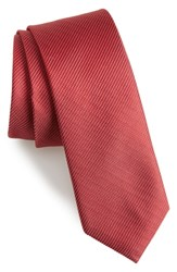 Calibrate Sheffield Solid Silk Tie Red