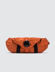 C.P. Company Cp Garment Dyed Nylon Sateen Mini Waist Bag Orange