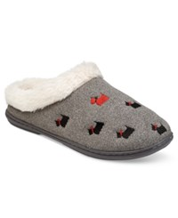 Charter Club Faux Fur Scottie Dog Slippers Only At Macy's Black