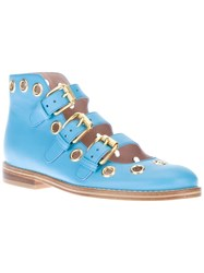 Opening Ceremony Buckle Boot Blue
