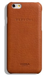 Shinola Iphone 6 6S Leather Phone Case Brown Bourbon