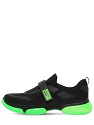 Prada Cloudbust Mesh Sneakers Black Green