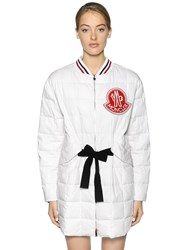 Moncler Gamme Rouge Cotton And Silk Twill Down Jacket