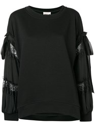 Aniye By Decorated Sleeves Sweater Black